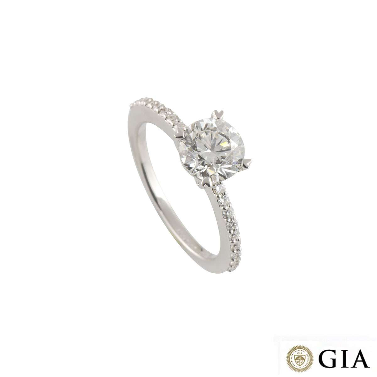 White Gold Diamond Ring 1.51ct G/VS2